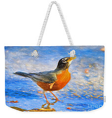 Robin In Florida Weekender Tote Bag