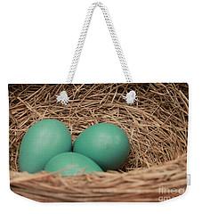Robins Three Blue Eggs Weekender Tote Bag