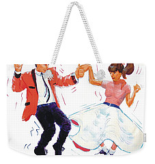 Rock And Roll Dancers Weekender Tote Bag