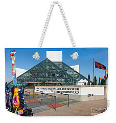 Rock And Roll Hall Of Fame IIi Weekender Tote Bag by Clarence Holmes