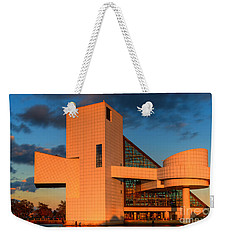 Rock And Roll Hall Of Fame Weekender Tote Bag by Jerry Fornarotto
