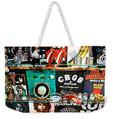 Weekender Tote Bag featuring the photograph Rock And Roll On St. Marks   Nyc by Joan Reese