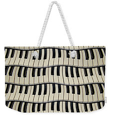 Rock And Roll Piano Keys Weekender Tote Bag
