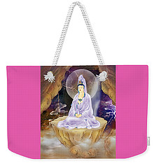 Weekender Tote Bag featuring the photograph Rock Cave Avalokitesvara  by Lanjee Chee