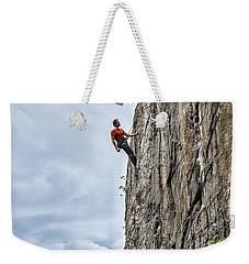 Rock Climber Weekender Tote Bag by Carsten Reisinger