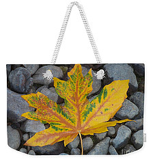 Weekender Tote Bag featuring the photograph Rock Creek Leaf by Chalet Roome-Rigdon