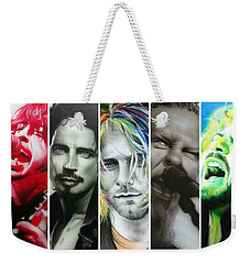 Collage - ' Rock Montage I ' Weekender Tote Bag by Christian Chapman Art