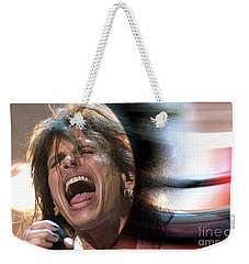 Rock N Roll Steven Tyler Weekender Tote Bag by Marvin Blaine
