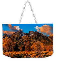 Weekender Tote Bag featuring the photograph Rock Of Ages Panorama by Greg Norrell