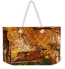 Rock Of Ages Surrouded By Color Weekender Tote Bag by Jeff Folger