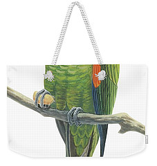 Rock Parakeet Weekender Tote Bag by Anonymous
