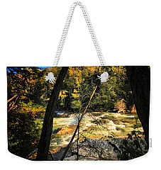 Rock Slide Weekender Tote Bag by Robert McCubbin