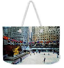 Rockefeller Center Ice Skaters Nyc Weekender Tote Bag