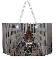 Rockefeller Plaza At Christmas Weekender Tote Bag