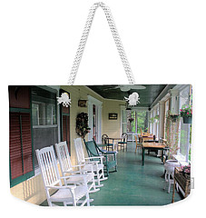 Rockers On The Porch Weekender Tote Bag by Gordon Elwell