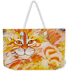 Weekender Tote Bag featuring the painting Rocket by Alison Caltrider