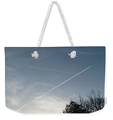 Weekender Tote Bag featuring the photograph Rocket To The Stars by Michael Krek