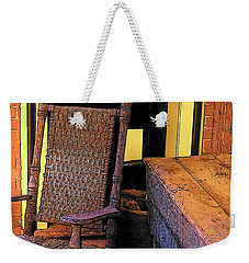 Rocking Chair And Woodbox Weekender Tote Bag