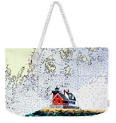Rockland Breakwater Light Weekender Tote Bag by Mike Robles