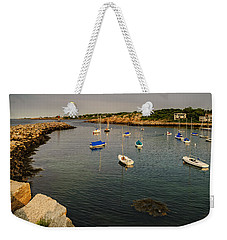 Weekender Tote Bag featuring the photograph Rockport Gold by Mark Myhaver