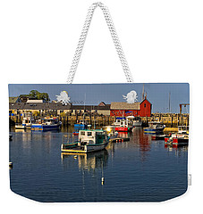 Weekender Tote Bag featuring the photograph Rockport Harbor No.1 by Mark Myhaver