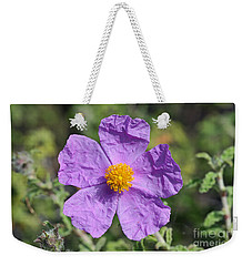 Rockrose Flower Weekender Tote Bag by George Atsametakis