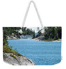 Rocks And Water Paradise Weekender Tote Bag by Brenda Brown