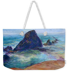 Rocks Heading North - Scenic Landscape Seascape Painting Weekender Tote Bag