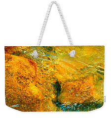 Rocks Under The Stream By Christopher Shellhammer Weekender Tote Bag