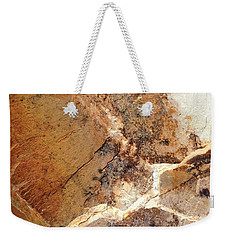 Weekender Tote Bag featuring the photograph Rockscape 1 by Linda Bailey