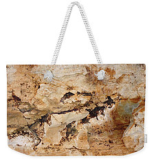 Weekender Tote Bag featuring the photograph Rockscape 3 by Linda Bailey