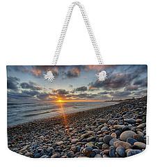 Rocky Coast Sunset Weekender Tote Bag