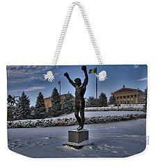 Rocky In The Snow Weekender Tote Bag