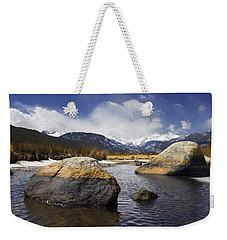Rocky Mountain Creek Weekender Tote Bag