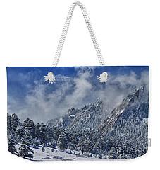 Rocky Mountain Dusting Of Snow Boulder Colorado Weekender Tote Bag