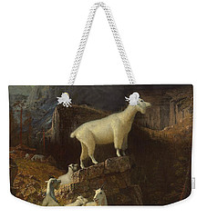 Rocky Mountain Goats Weekender Tote Bag by Albert Bierstadt