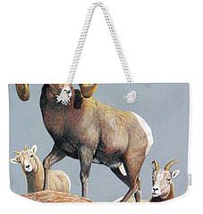 Rocky Mountain Ram Ewe And Lamb Weekender Tote Bag