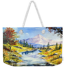 Rocky Mountain Stream Weekender Tote Bag by Lee Piper