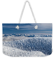 Weekender Tote Bag featuring the photograph Rocky Mountain Winter by Aaron Aldrich