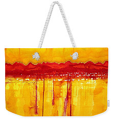 Rocky Mountains Original Painting Weekender Tote Bag