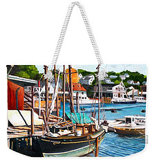 Rocky Neck October Weekender Tote Bag by Eileen Patten Oliver
