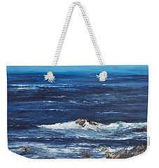 Rocky Shore Weekender Tote Bag by Valerie Travers