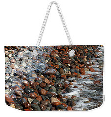 Rocky Shoreline Abstract Weekender Tote Bag by James Peterson