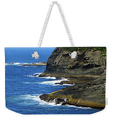 Weekender Tote Bag featuring the photograph Rocky Shores by Tikvah's Hope