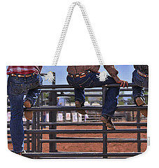 Rodeo Fence Sitters Weekender Tote Bag by Priscilla Burgers