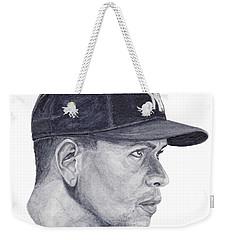 Weekender Tote Bag featuring the painting Rodriguez by Tamir Barkan