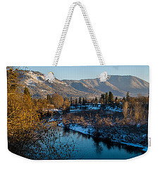 Rogue River Winter Weekender Tote Bag