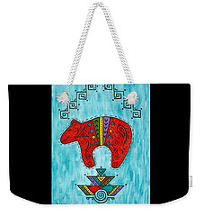 Weekender Tote Bag featuring the painting Rojo Oso by Susie WEBER