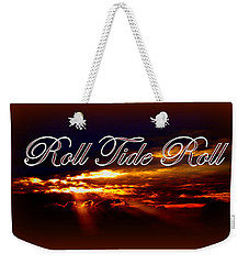 Roll Tide Roll W Red Border - Alabama Weekender Tote Bag