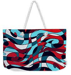 Roller Coaster Weekender Tote Bag by Shawna Rowe
